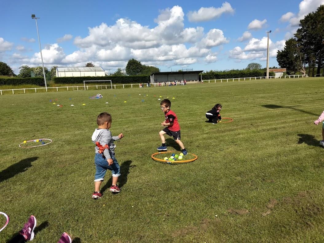 Rencontre sportive des maternelles à Langoat