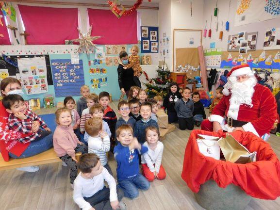 Visite surprise du Père Noël